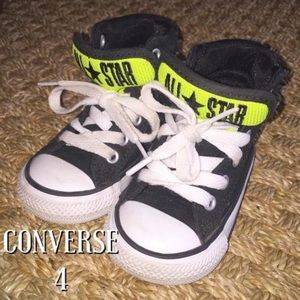 Converse Other - Coverse Black and Neon Green Hightops 4