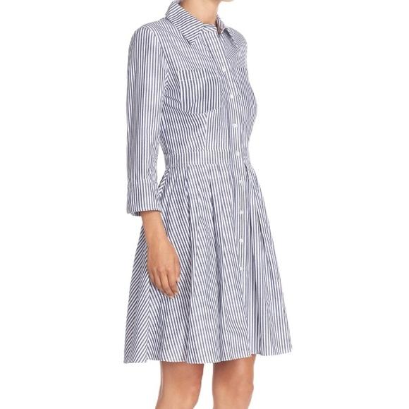 Eliza J Dresses   Striped Cotton Shirt Dress   Poshmark