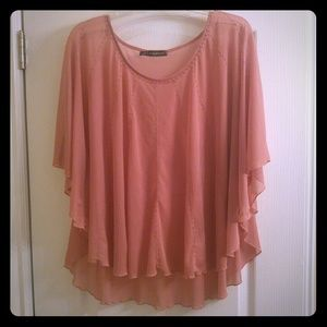 Maurices Tops - Sheer batwing blouse with pearl accents