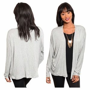 Sweaters - NEW Gray Open Front Cardigan
