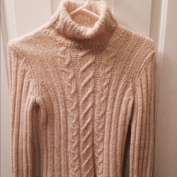 52% off Sweaters - Cream-colored turtleneck sweater from Ashley's ...