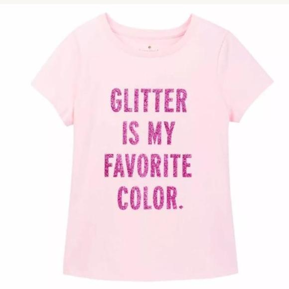 best authentic 14b11 26e6d Kate Spade New York Glitter Is My Favorite Color Shirt NWT
