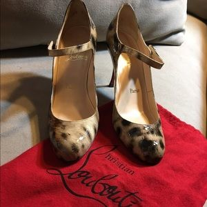 Christian Louboutin Shoes - Christian Louboutin Patent Leopard Mary Janes