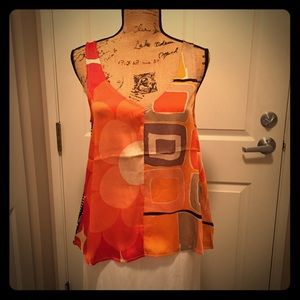 Adorable mixed media top by Tiny