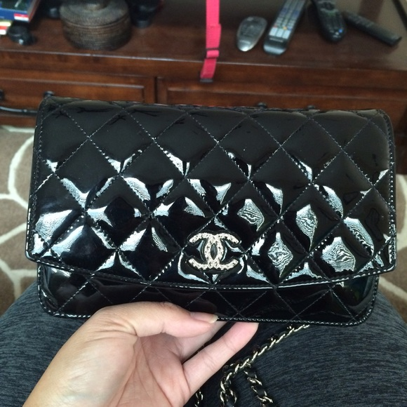 89ce16897bb1 CHANEL Handbags - Patent leather Chanel WOC wallet on chain