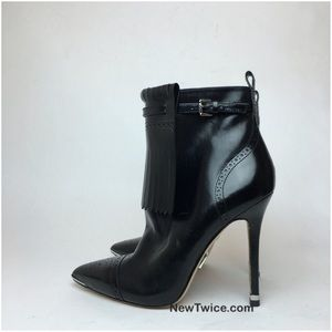 Michael Kors Collection black leather ankle bootie