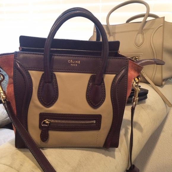 be9c824e1e Celine Handbags - Celine Nano tri-color Just Sharing😍😋