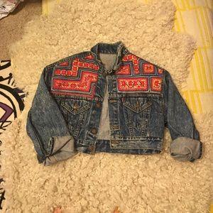 Amazing embellished vintage denim jacket