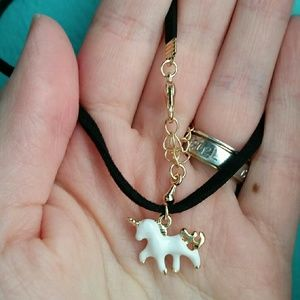 October Love Jewelry - SALE!  Dainty Unicorn Choker