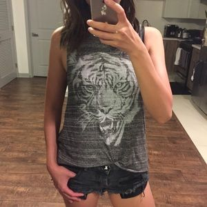 Brandy Melville Tops - Brandy Melville Tiger Muscle Tee