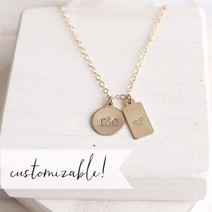 14k Gold Filled Duo Tag Necklace
