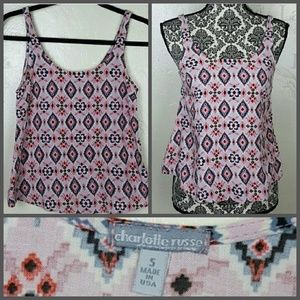 Charlotte Russe Tops - Charlotte Russe Pink Aztec Top Size Small