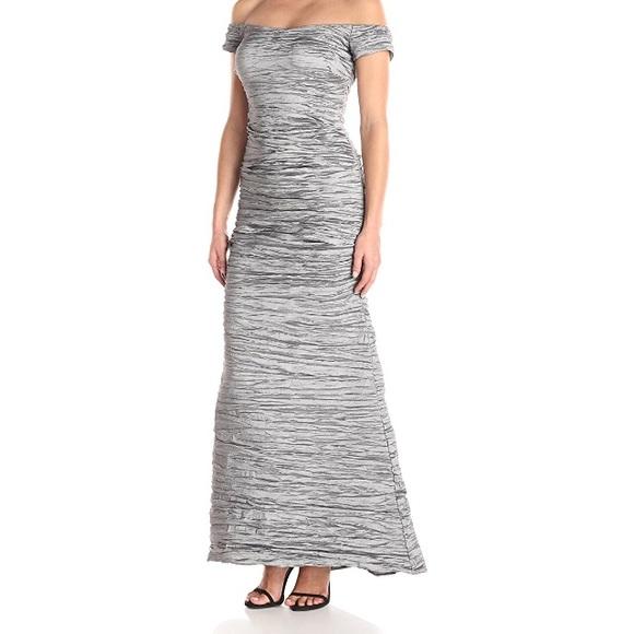 Alex Evenings Dresses | Long Off The Shoulder Taffeta Dress | Poshmark