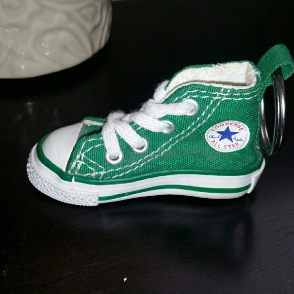 153f28fc7a1f91 Converse Accessories - Green mini Converse Shoe Keychain  NWOT
