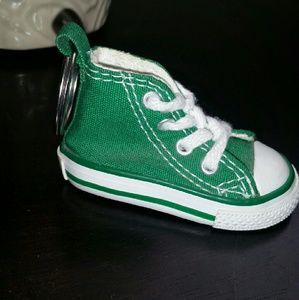 Green mini Converse Shoe Keychain [NWOT]