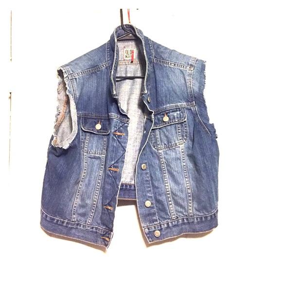 5fbbe63f38c78 Old navy jackets coats altered cut off denim vest poshmark jpg 580x580 Cut  off denim vest