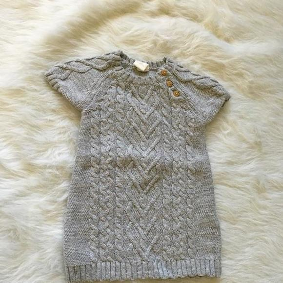 Hm Kids Dresses H M Gray Knitted Sweater Dress Poshmark