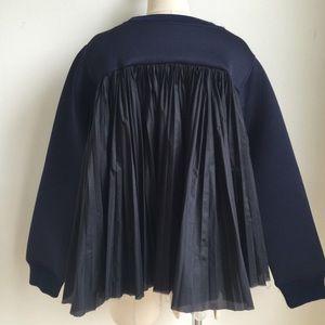 Sacai Tops - Pleated back sweatshirt sz xs