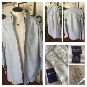 Arrow Other - NWT ARROW Blue & White Striped Shirt