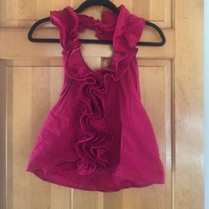 mandee Tops - Gorgeous raspberry color halter neck