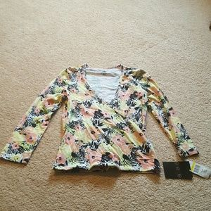 Energie Long Sleeve Tshirt Floral New Medium
