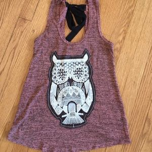 a'gaci Tops - Cute owl crochet tank. 🐹