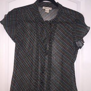 Brand new Forever 21 semi sheer front tie blouse