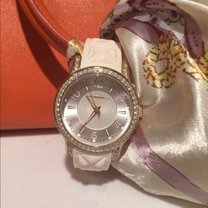 Crystal embellished Isaac Mizrahi watch