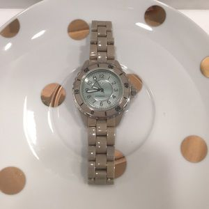 Isaac Mizrahi Ceramic Link Watch