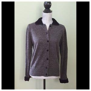 Pierre Cardin Sweaters - Pierre Cardin Velvet Collar Cardigan