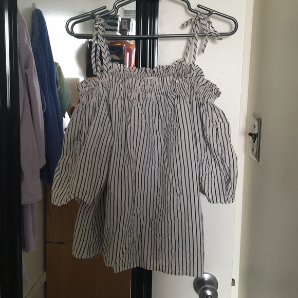H&M Tops - H&M Off-Shoulder Striped Blouse