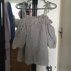 H&M Tops - H&M Off-Shoulder Striped Blouse 2