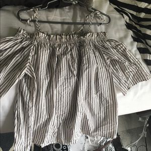 H&M Tops - H&M Off-Shoulder Striped Blouse 3