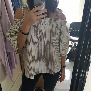 H&M Tops - H&M Off-Shoulder Striped Blouse 4