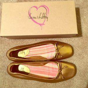 Sam & Libby Shoes - Bronze Ballet Flats