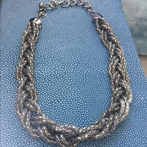 Jcrew Metallic edgy necklace