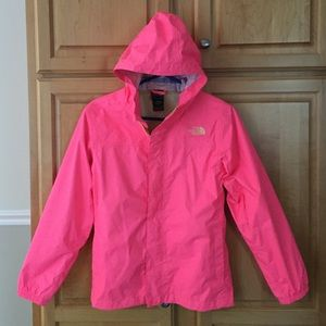 North Face Other - Girls Pink Hooded North Face Rain Jacket