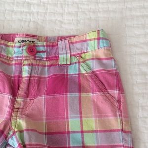 Cherokee Other - Girl's pink plaid shorts