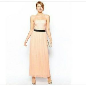 ASOS Dresses & Skirts - Love Lace Bandeau Maxi with Pleat Skirt.