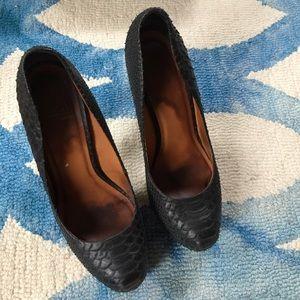 Pour la Victoire Shoes - Pour La Victoire Irina II Black Snake Heels