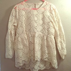 Altar'd State lace long sleeve blouse