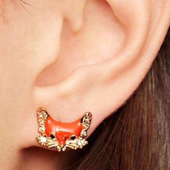 75df2932461de Brand New Kate Spade Fox Stud Earrings NWT