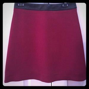 "Belstaff Dresses & Skirts - Belstaff ""mikki"" skirt burgundy with leather trim"