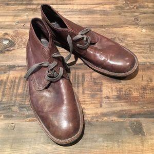 John Varvatos Other - John Varvatos Brown Leather Chukka Boots Size 12M