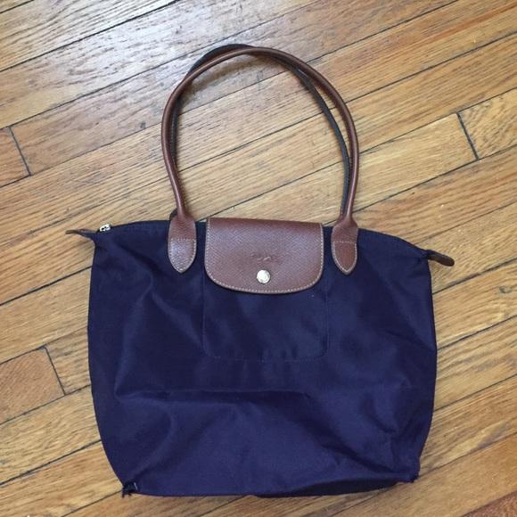 Longchamp le pliage bilberry medium shoulder bag