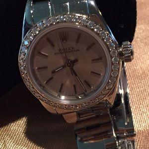 Rolex Accessories - Ladies diamond face Rolex fabulous w/box