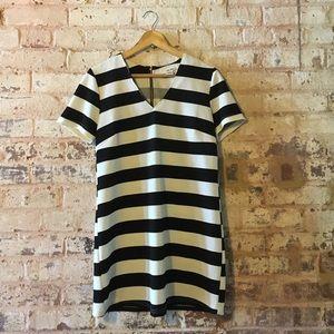 Sans Souci Dresses & Skirts - Black & white striped shift dress