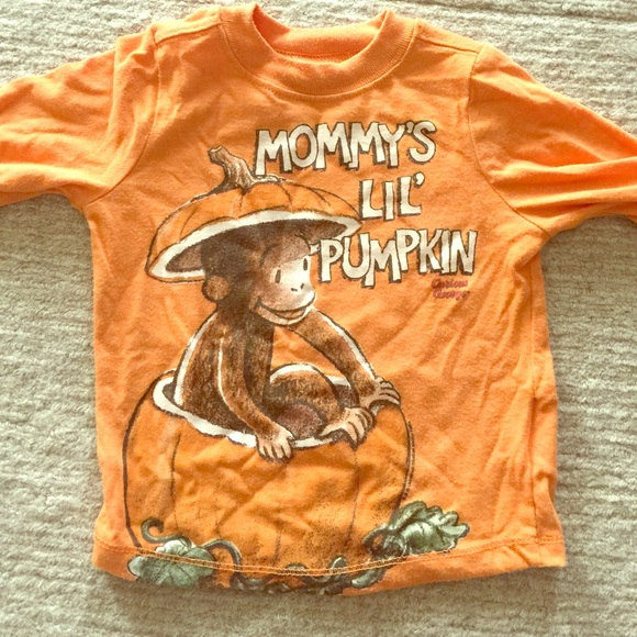Old Navy Shirts Tops Curious George Mommys Lil Pumpkin Tee