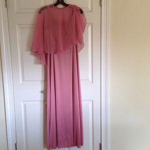 Dresses & Skirts - Vintage Rose dress with sheer cape