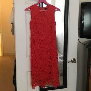 Ann Taylor Dresses & Skirts - Ann Taylor red lace dress size 2